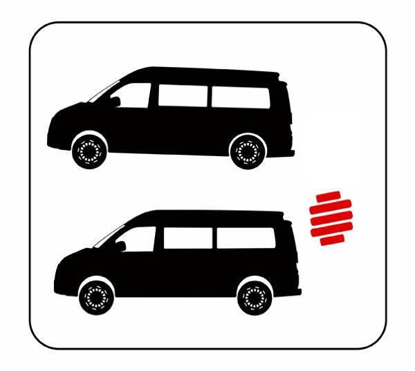 Bilde av Forsterkede fjærer bak VW T5 03-15 / T6 2016- T6.1 2020- 300- ki