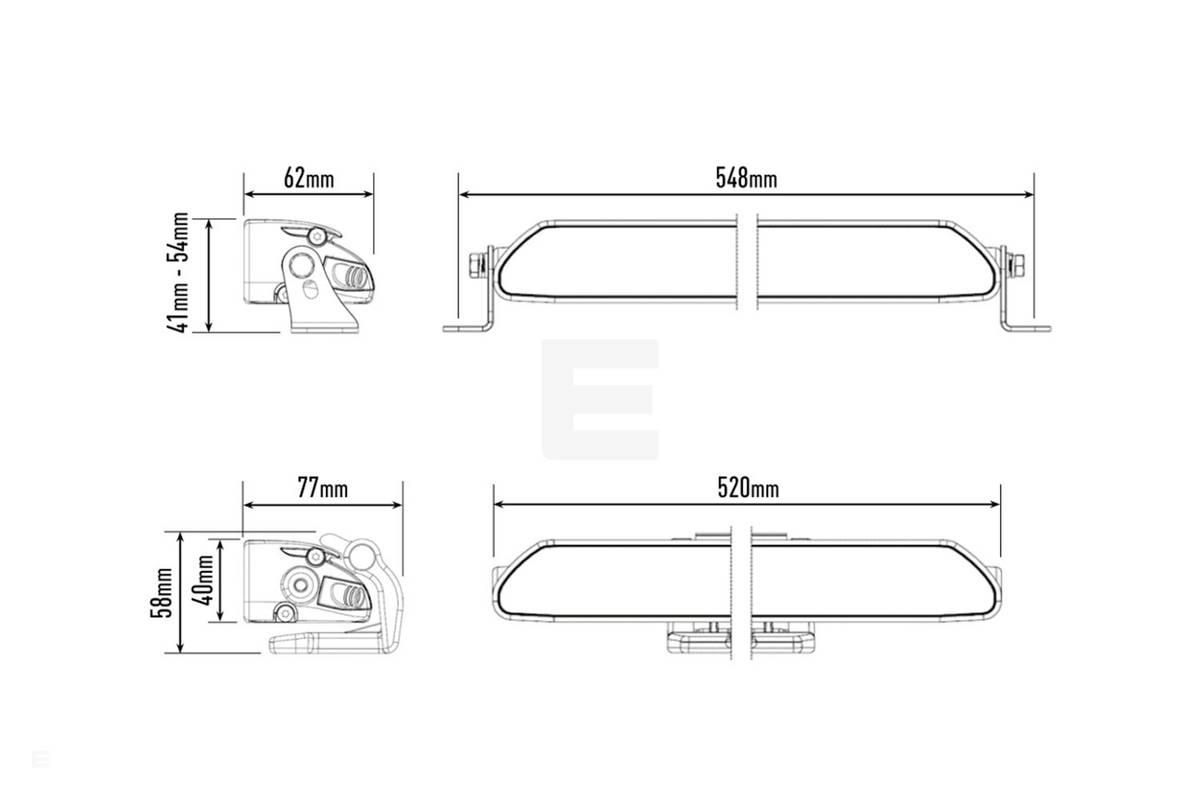 Lazer Linear 18 Elite LED fjernlys
